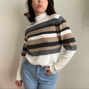 Vintage Earthy Mockneck Sweater